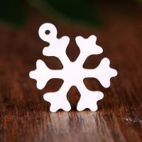 Natürliche weiße Muschel Anhänger, Schneeflocke, Handpoliert, 18x2x20mm, Bohrung:ca. 1mm, verkauft von PC