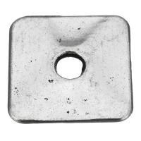 Zinklegierung Biegering, antik silberfarben plattiert, frei von Nickel, Blei & Kadmium, 22.50x22.50x2.50mm, Bohrung:ca. 5mm, 50PCs/Menge, verkauft von Menge