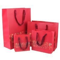 Mode Geschenkbeutel, Papier, mit Nylonschnur, verschiedene Größen vorhanden, rot, 20PCs/Menge, verkauft von Menge