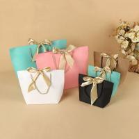 Mode Geschenkbeutel, Papier, mit Satinband & Nylonschnur, verschiedene Größen vorhanden, keine, 20PCs/Menge, verkauft von Menge