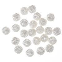 ABS-Kunststoff-Perlen, weiß, 10mm, Bohrung:ca. 1mm, 100PCs/Tasche, verkauft von Tasche