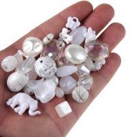 Gemischte Acrylperlen, Acryl, 8-30mm, Bohrung:ca. 1mm, 100G/Tasche, verkauft von Tasche