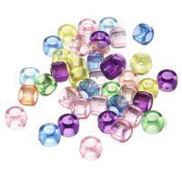 Transparente Acryl-Perlen, Acryl, Rondell, gemischte Farben, 8x6mm, Bohrung:ca. 2mm, 100PCs/Tasche, verkauft von Tasche