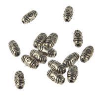 Verkupfertes Kunststoff-Perlen, Verkupferter Kunststoff, Trommel, antike Goldfarbe plattiert, 11x6mm, Bohrung:ca. 1mm, 100PCs/Tasche, verkauft von Tasche