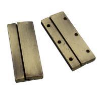 Zinklegierung Magnetverschluss, Rechteck, antike Bronzefarbe plattiert, frei von Blei & Kadmium, 18x42x5mm, verkauft von PC