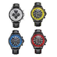 RISTOS® Uhrenkollektion, PU Leder, mit Glas & Edelstahl, schwärzen, einstellbar & für den Menschen, keine, 47x15mm, Länge:ca. 10 ZollInch, verkauft von PC