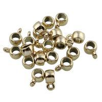 Zinklegierung Stiftöse Perlen, vergoldet, frei von Blei & Kadmium, 4x9x6mm, Bohrung:ca. 1.5mm, 20PCs/Tasche, verkauft von Tasche