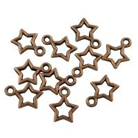 Zinklegierung Stern Anhänger, antike Kupferfarbe plattiert, frei von Blei & Kadmium, 9x12x1mm, Bohrung:ca. 1.5mm, 100G/Tasche, verkauft von Tasche