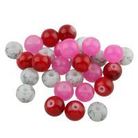 Mode Glasperlen, Glas, rund, keine, 8mm, Bohrung:ca. 1.5mm, 100PCs/Tasche, verkauft von Tasche