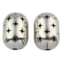 Verkupfertes Kunststoff-Perlen, Verkupferter Kunststoff, antik silberfarben plattiert, 27x19mm, Bohrung:ca. 4mm, 10PCs/Tasche, verkauft von Tasche