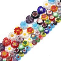 Chevron Glasperlen, Glas Chevron, Herz, verschiedene Größen vorhanden, Bohrung:ca. 1mm, verkauft per ca. 16 ZollInch Strang