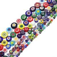 Chevron Glasperlen, Glas Chevron, flache Runde, verschiedene Größen vorhanden, Bohrung:ca. 1mm, verkauft per ca. 16 ZollInch Strang
