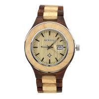 BEWELL® Uhrenkollektion, Holz, mit Glas & Edelstahl, verschiedenen Materialien für die Wahl & für den Menschen, 58mm, Länge:ca. 8.5 ZollInch, verkauft von PC