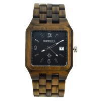 BEWELL® Uhrenkollektion, Sandelholz, mit Glas & Edelstahl, verschiedenen Materialien für die Wahl & für den Menschen, 52mm, Länge:ca. 8.5 ZollInch, verkauft von PC