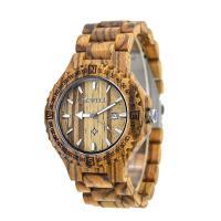 BEWELL® Uhrenkollektion, Holz, mit Glas & Edelstahl, für den Menschen, keine, 47mm, Länge:ca. 8.5 ZollInch, verkauft von PC