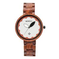 BEWELL® Uhrenkollektion, Holz, mit Glas & Edelstahl, verschiedenen Materialien für die Wahl & für Frau, 41mm, Länge:ca. 8.5 ZollInch, verkauft von PC