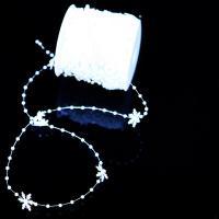 ABS-Kunststoff-Perlen Perle Seil, weiß, 3mm, ca. 30m/Spule, verkauft von Spule