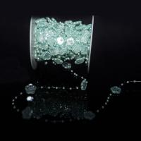 ABS-Kunststoff-Perlen Perle Seil, 15mm, ca. 50m/Spule, verkauft von Spule