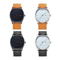 BIDEN® Uhrenkollektion, Leder, mit Glas & Edelstahl & Zinklegierung, plattiert, unisex & einstellbar, keine, 46x11mm, Länge:ca. 9 ZollInch, verkauft von PC