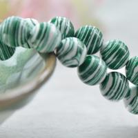 Synthetische Türkis Perle, verschiedene Größen vorhanden, grün, verkauft per ca. 15.7 ZollInch Strang