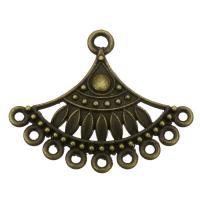 Zink-Legierung Cabochon Weissgold, Zinklegierung, antike Bronzefarbe plattiert, mit Schleife, frei von Nickel, Blei & Kadmium, 36x29x3.50mm, Bohrung:ca. 1.5mm, 2.5mm, Innendurchmesser:ca. 1.5x4.5mm, ca. 200PCs/Tasche, verkauft von Tasche