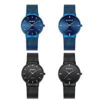 BIDEN® Uhrenkollektion, Edelstahl, mit Glas & Zinklegierung, plattiert, unisex & verschiedene Stile für Wahl & für paar, verkauft von PC