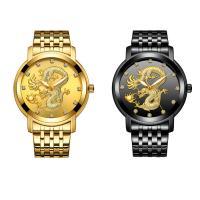 BIDEN® Uhrenkollektion, Edelstahl, mit Glas & Zinklegierung, plattiert, für den Menschen & mit Strass, keine, 39x10mm, Länge:ca. 9 ZollInch, verkauft von PC