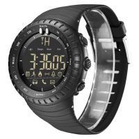 BIDEN® Uhrenkollektion, Silikon, mit Glas & Edelstahl, schwärzen, LED & für den Menschen & glänzend, 50x15mm, Länge:ca. 9 ZollInch, verkauft von PC