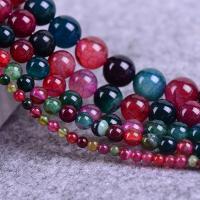 Natürliche Regenbogen Achat Perlen, rund, verschiedene Größen vorhanden, verkauft per ca. 15.3 ZollInch Strang