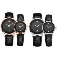 DOM® Uhrenkollektion, Kuhhaut, mit Zinklegierung Zifferblatt & Glas & Edelstahl, plattiert, einstellbar & verschiedene Stile für Wahl & wasserdicht & für paar, verkauft von PC