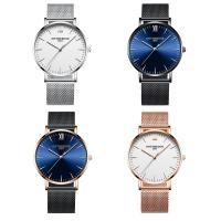 ONTHEEDGE®-Männer-Schmuck-Uhren, Edelstahl, mit Glas, plattiert, für den Menschen, keine, 40x6mm, Länge:ca. 9 ZollInch, verkauft von PC