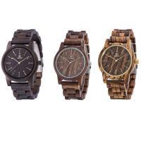 UWOOD® Uhrenkollektion, Holz, mit Glas & Edelstahl, verschiedenen Materialien für die Wahl & unisex, 39x20mm, Länge:ca. 8.5 ZollInch, verkauft von PC