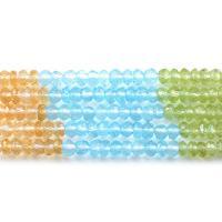 Amethyst Perle, mit Topaze & Peridot Stein & Gelbquarz Perlen, facettierte, 4x2mm, Bohrung:ca. 0.5mm, ca. 96PCs/Strang, verkauft per ca. 15.7 ZollInch Strang