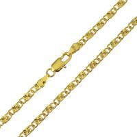 Messingkette Halskette, Messing, 24 K vergoldet, unisex & Mariner-Kette, 8.50x3.50mm, verkauft per ca. 20 ZollInch Strang