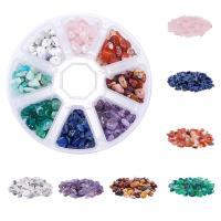 Mischedelstein Perlen, Edelstein, mit Kunststoff Kasten, gemischt, 5-8mm, 165x145x28mm, Bohrung:ca. 1mm, verkauft von Box