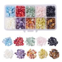 Mischedelstein Perlen, Edelstein, mit Kunststoff Kasten, gemischt, 5-8mm, Bohrung:ca. 1mm, verkauft von Box