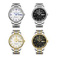 ONTHEEDGE®-Männer-Schmuck-Uhren, Edelstahl, mit Glas, plattiert, für den Menschen & mit Strass, keine, 38.5x9mm, Länge:ca. 9 ZollInch, verkauft von PC