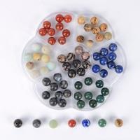 Mischedelstein Perlen, Edelstein, mit Kunststoff Kasten, gemischt, 8mm, 105x105x25mm, Bohrung:ca. 1mm, 70PCs/Box, verkauft von Box
