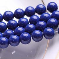 Lapislazuli Perlen, Blaues Erz, rund, natürlich, verschiedene Größen vorhanden, blau, verkauft per ca. 15.7 ZollInch Strang