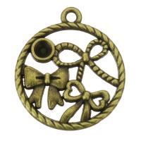 Zink-Legierung Cabochon Weissgold, Zinklegierung, Kreisring, antike Bronzefarbe plattiert, frei von Nickel, Blei & Kadmium, 19x22x2.50mm, Bohrung:ca. 1.5mm, Innendurchmesser:ca. 3mm, 200PCs/Tasche, verkauft von Tasche