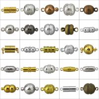 Messing Magnetverschluss, plattiert, verschiedene Stile für Wahl & Einzelstrang, Bohrung:ca. 1.5mm, 100PCs/Menge, verkauft von Menge