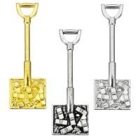 Zinklegierung Werkzeug Anhänger, Schaufel, plattiert, keine, frei von Nickel, Blei & Kadmium, 11.50x35x3mm, Bohrung:ca. 5x3mm, 200PCs/Tasche, verkauft von Tasche