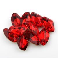 Kristall Eisen auf Nagelkopf, facettierte, Hyazinth, 8.5x14x4mm, 10PCs/Tasche, verkauft von Tasche