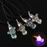 Lampwork Halskette, mit Gummiband, handgemacht, unisex & glänzend, keine, 24x35x20mm, verkauft per ca. 17 ZollInch Strang