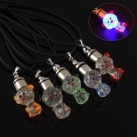 Lampwork Halskette, mit Gummiband, handgemacht, unisex & glänzend, keine, 17x35x15mm, verkauft per ca. 17 ZollInch Strang