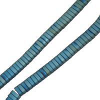 Nicht-magnetische Hämatit Perlen, Non- magnetische Hämatit, plattiert, 2x7x3mm, Bohrung:ca. 1mm, ca. 100PCs/Strang, verkauft per ca. 16 ZollInch Strang