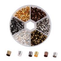 Messing Positionierung Bead, mit Kunststoff Kasten, plattiert, gemischte Farben, frei von Blei & Kadmium, 3mm, Bohrung:ca. 2-2.5mm, ca. 1200PCs/Box, verkauft von Box