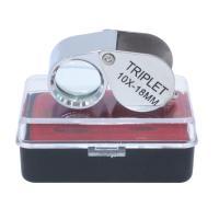 Edelstahl Lupe, 18mm, Bohrung:ca. 5mm, verkauft von PC