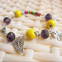 Porzellan Armband, mit Kristall & Zinklegierung, antik silberfarben plattiert, Armband  Bettelarmband & für Frau & facettierte, keine, verkauft per ca. 7 ZollInch Strang