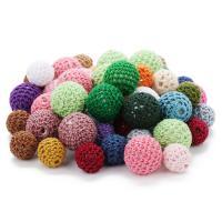 Acryl Perle, mit Caddice, rund, verschiedene Größen vorhanden, gemischte Farben, Bohrung:ca. 4mm, 10PCs/Tasche, verkauft von Tasche